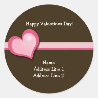 Sweet Heart Valentines Day Round Address Labels Round Sticker