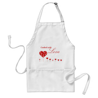 """Sweet Hearts - """"Cooked with Love"""" Apron"""