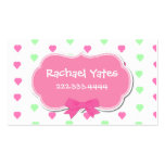 Sweet Hearts Girl's Play Date Card Business Card Templates