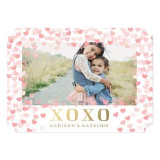 "Sweet hearts in White | Valentine's Day Photo Card 5"" X 7"" Invitation Card"