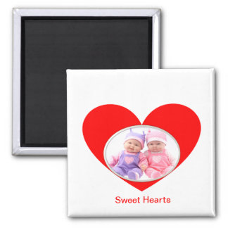 Sweet Hearts Square Magnet
