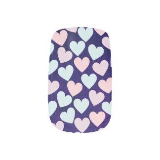 Sweet hearts minx nail art