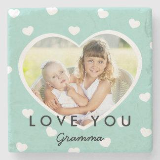 Sweet Hearts Personalized Photo Stone Coasters