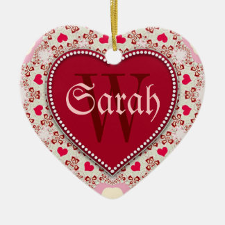 Sweet Hearts Red Name Door Signs Ornament