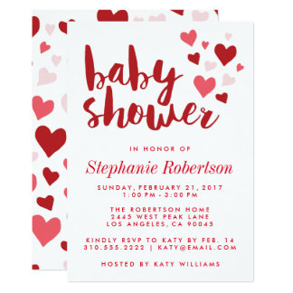 Sweet Hearts Stylish Baby Shower Invitation