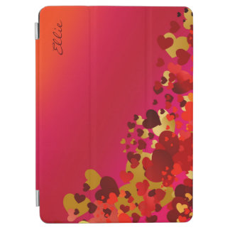 sweet hearts with personalized name iPad air cover