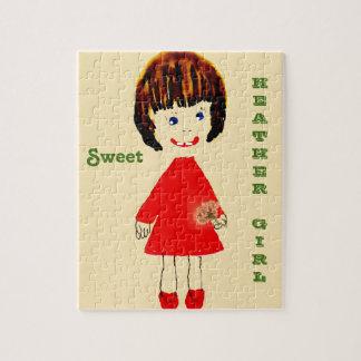 Sweet Heather Girl Jigsaw Puzzle