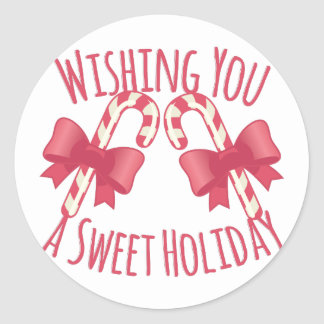 Sweet Holiday Classic Round Sticker