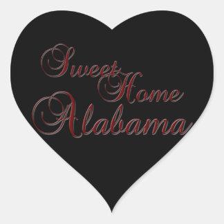 Sweet Home Alabama Heart Shaped Sticker
