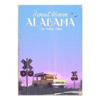 """Sweet home"" Alabama Travel poster"