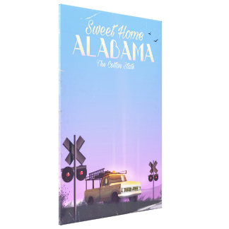 """Sweet home"" Alabama Travel poster Canvas Print"
