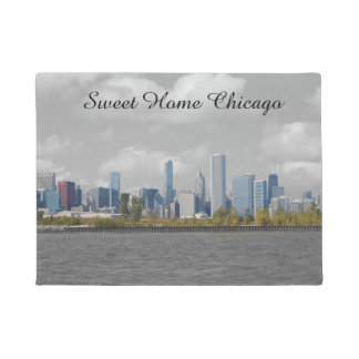 Sweet Home Chicago skyline doormat