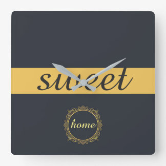 sweet home concept design fresh gift square wall clock