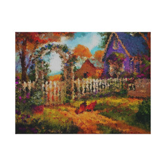 Sweet Home on Stretched Canvas Print