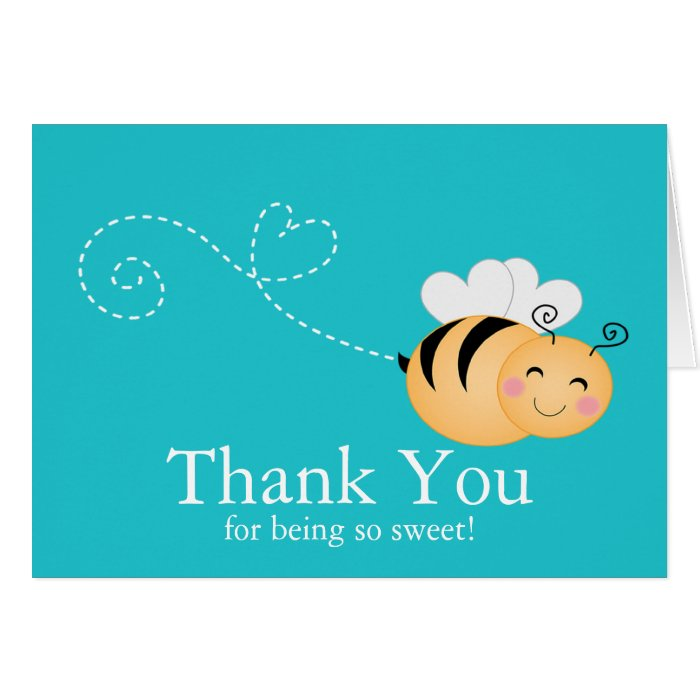 Sweet Honey Bumble Bee Thank You Note Card