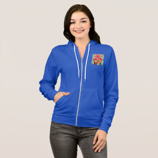 Sweet Honey Christmas Zipped Hoodie Blue