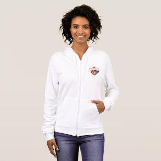 Sweet Honey zipped fleece hoodie