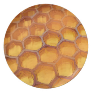 Sweet Honeycomb drawing honey Plate