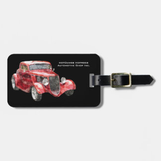 Sweet Hotrod Classic Car for  Auto Biz Luggage Tag