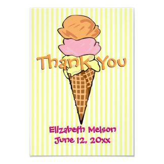Sweet Ice Cream Flat Thank You Card