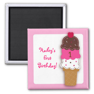 Sweet Ice Cream Shop Party Favor Magnets