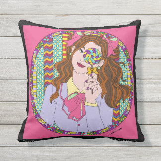Sweet in square Pillow
