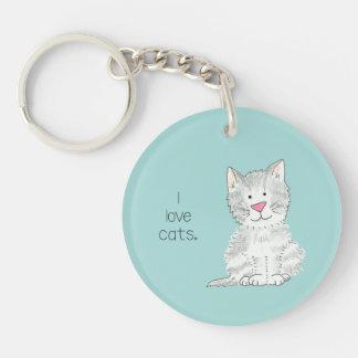 Sweet, irresistible kitten keychain