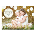 Sweet Ivory Dots Season's Greetings Photo Card Personalized Invitations
