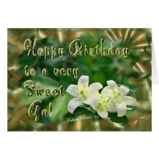 Sweet Jasmine-customize Greeting Card