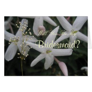 Sweet Jasmine Wedding Greeting Card
