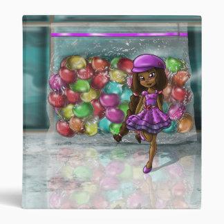 """Sweet Jellybean Shanel""  Avery 1"" Binder"