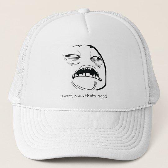 Sweet Jesus That's Good (text) Trucker Hat