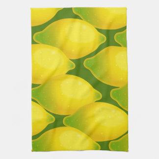 Sweet Juicy Yellow Citrus Lemon Wallpaper Design Kitchen Towel