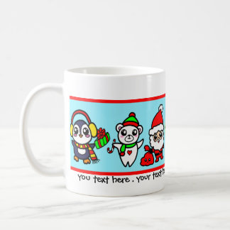 Sweet Kawaii Christmas Character pattern Coffee Mug