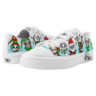Sweet Kawaii Christmas Character pattern Low-Top Sneakers