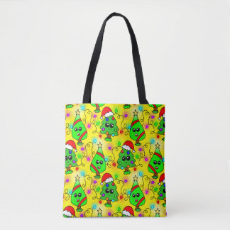 Sweet Kawaii Christmas tree  pattern Tote Bag