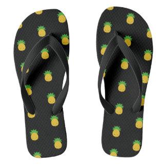 Sweet kawaii pineapple black flip-flop sandals flip flops