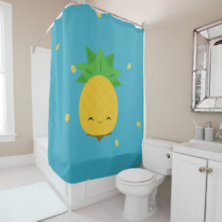 Sweet Kawaii Pineapple Fruit Shower Curtain