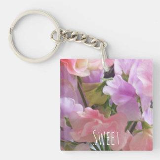 Sweet keyring Double-Sided square acrylic keychain