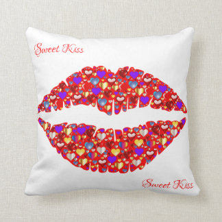 sweet kiss throw pillow