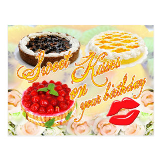 Sweet Kisses on your Birthday! Postcard