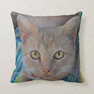 Sweet Kitten Drawing Pillow