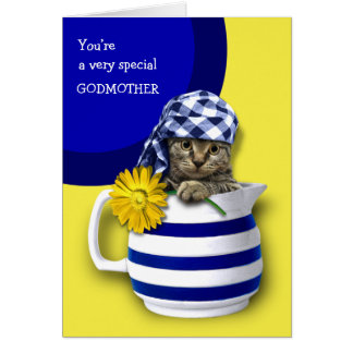 Sweet Kitten. For Godmother on Mother's Day Cards