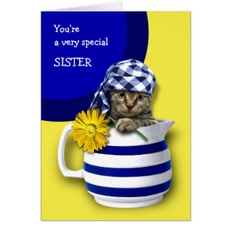 Sweet Kitten. For Sister on Mother's Day Cards