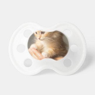 Sweet Kitten in good Hand Baby Pacifiers