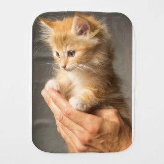 Sweet Kitten in Good Hand Burp Cloth