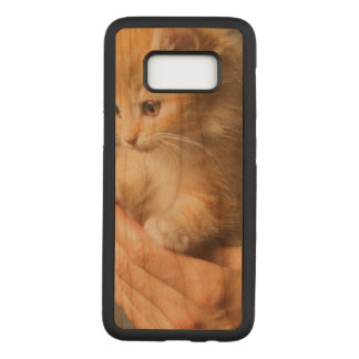 Sweet Kitten in Good Hand Carved Samsung Galaxy S8 Case