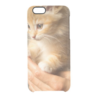 Sweet Kitten in Good Hand Clear iPhone 6/6S Case