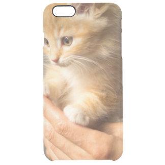 Sweet Kitten in Good Hand Clear iPhone 6 Plus Case