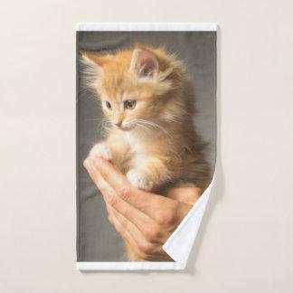 Sweet Kitten in Good Hand Hand Towel